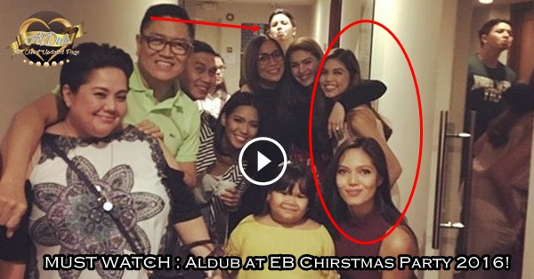 MUST WATCH : Aldub at EB Chirstmas Party 2016!