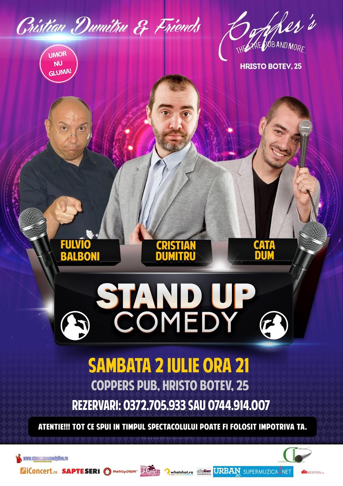 Stand-Up Comedy Sambata 2 Iulie Bucuresti