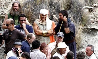 Christian Bale (Moise) şi Joel Edgerton (Ramses) pe platourile de filmare pentru Exodus