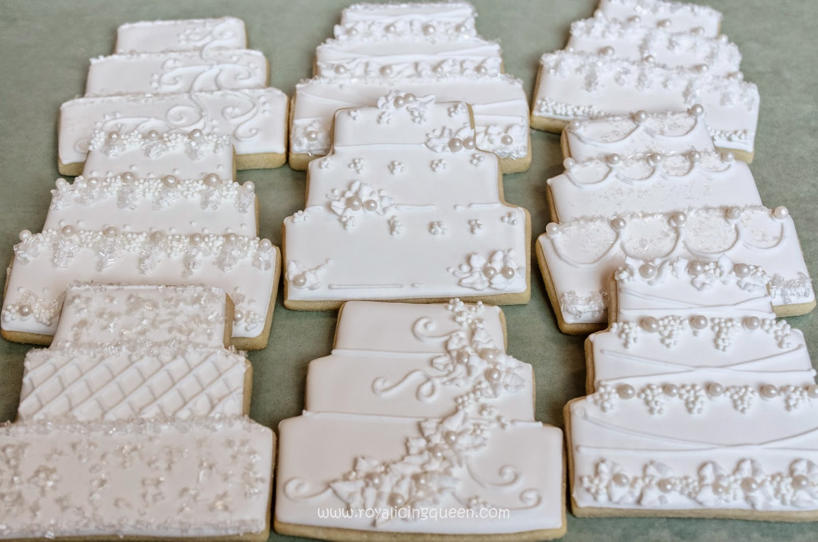 The Royal Icing Queen: Wedding Cake Cookies