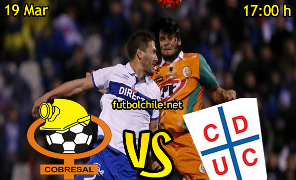 Ver stream hd youtube facebook movil android ios iphone table ipad windows mac linux resultado en vivo, online:  Cobresal vs Universidad Católica