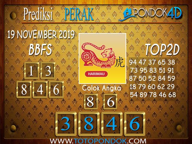 Prediksi Togel PERAK PONDOK4D 19 NOVEMBER 2019