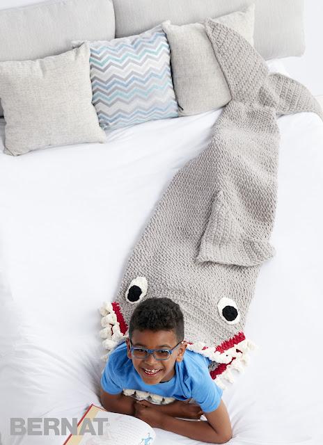 ergahandmade Crochet Shark Blanket Sack Free Pattern