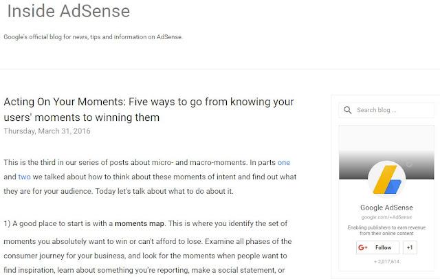 Blog Berkualitas Dimata AdSense Kupas Tuntas