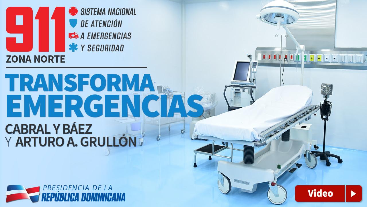 VIDEO: 911 en zona Norte transforma Emergencias del Cabral y Báez y Arturo Grullón