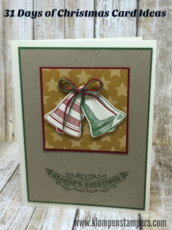 31 Days Of Christmas Cards Day 3 Klompen Stampers