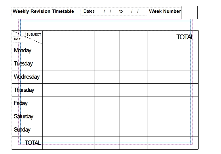Common worksheets printable revision timetable for Revision table multiplication