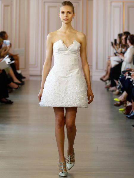vestidos de novia cortos color champagne