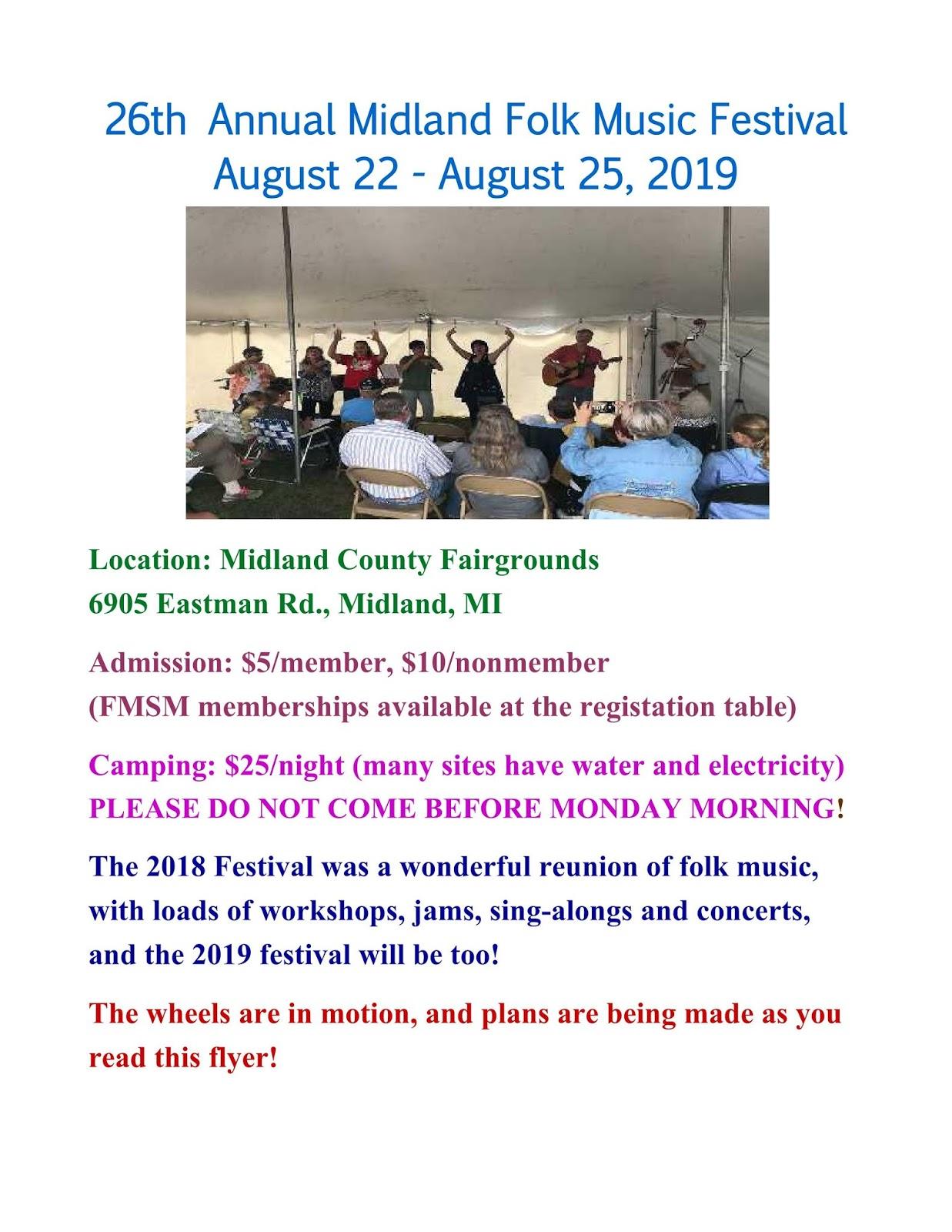Folk Music Society of Midland: Midland Folk Music Festival