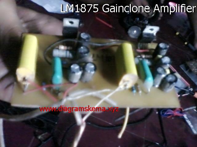 Rangkaian Power amplifier gainclone LM1875