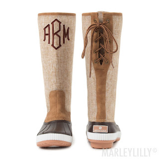 women's personalized tall duck boots