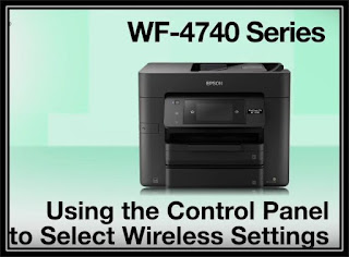 Epson WF 4740 Wireless Setup