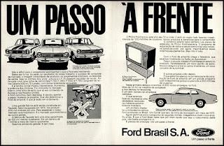 propaganda Ford Brasil S. A. - 1972, Ford Willys anos 70, carro antigo Ford, década de 70, anos 70, Oswaldo Hernandez,