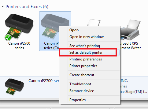 gambar 2 Cara Setting Default Printer