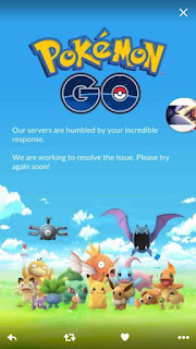 Cara mudah Mengatasi Pokemon Go Our servers are humbled by your incredible response,we are working to resolve the issue.please try again soon