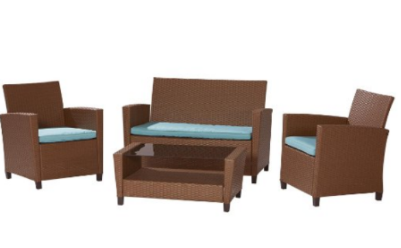 4 Piece Malmo Resin Wicker patio Set, Choosing Outdoor Couch Tips, Outdoor Couch, Outdoor Furniture, Outdoor Space, Outdoor Couch Buying Tips, Outdoor Couch Sets,