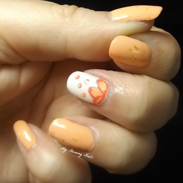 Peach and Gold Nail Art! Prime Beauty Blog