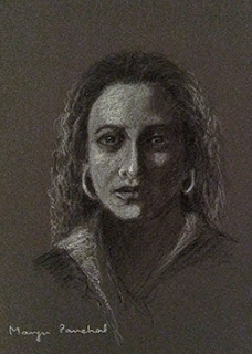 Portrait study work on canson paper by Manju Panchal