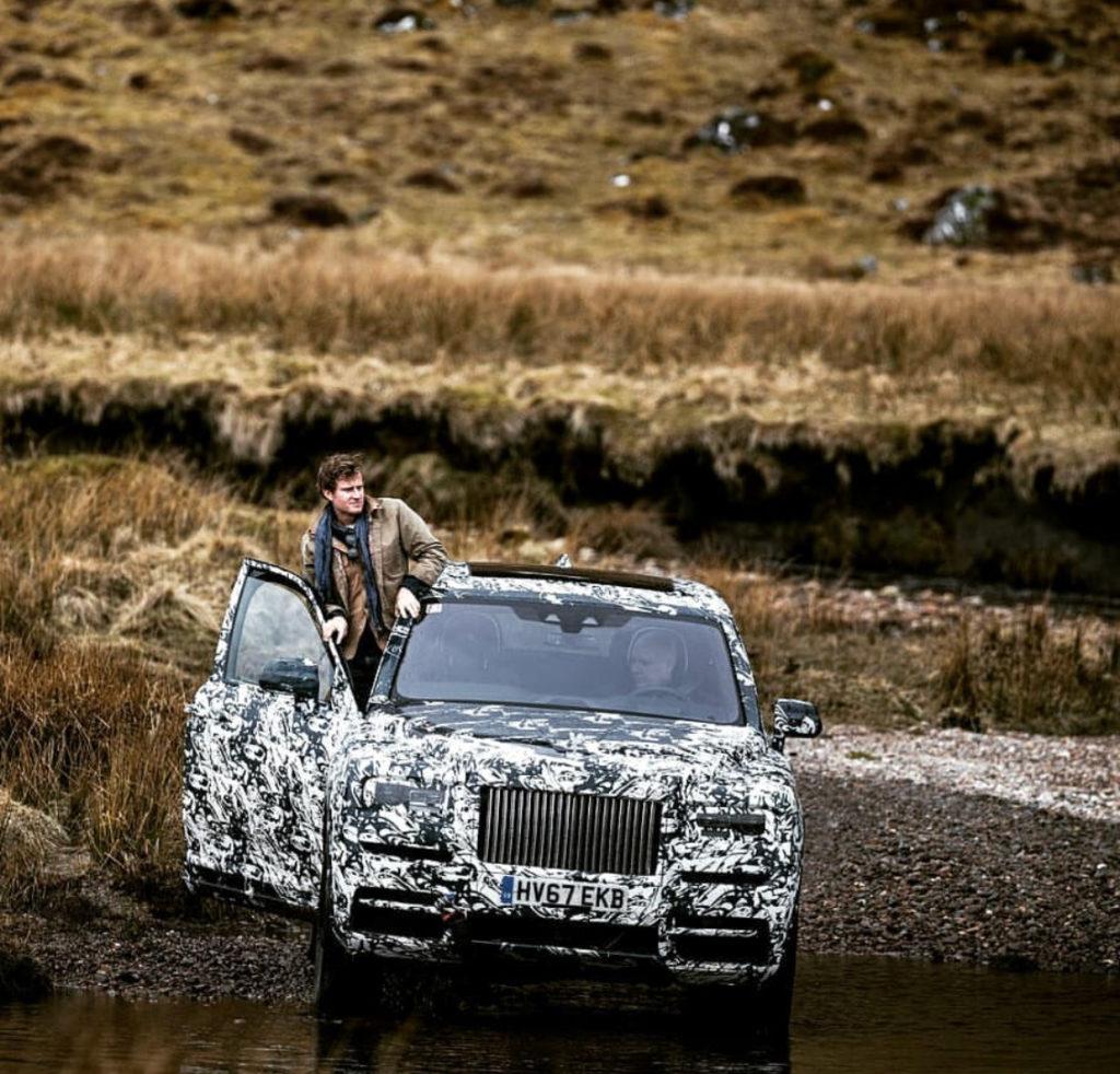 m e m o: Rolls Royce SUV camouflage shot