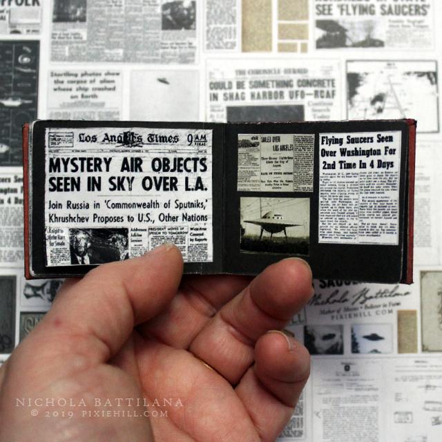 UFO miniature scrapbook - Nichola Battilana pixiehill.com