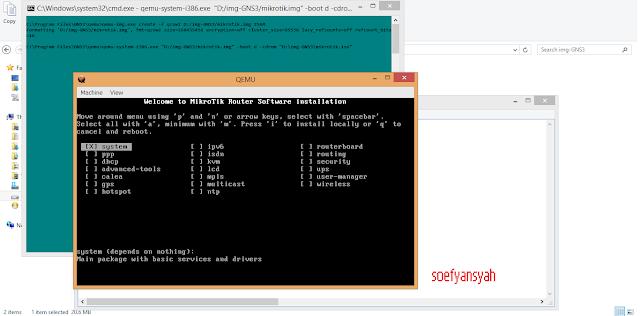 Install GNS 3 di System 32bit untuk mejalankan Virtual Router Mikrotik