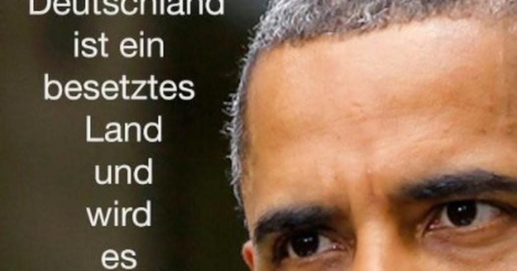 Obama Deutschland Besetztes Land