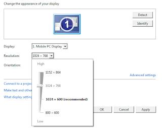 display maximum netbook dapat di tingkatkan, netbook juga bisa memiliki display maximum 1024 x 768