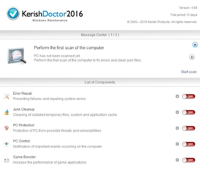تحميل وتثبيت وشرح برنامج Kerish Doctor 2016 لتسريع وصيانة الويندوز