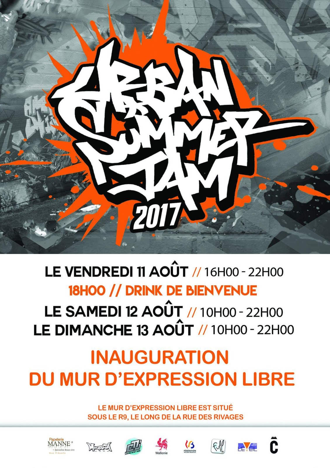 URBAN SUMMER JAM - GRAFFITI à CHARLEROI