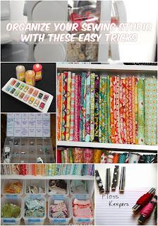 sewing room organization tips and tricks hacks