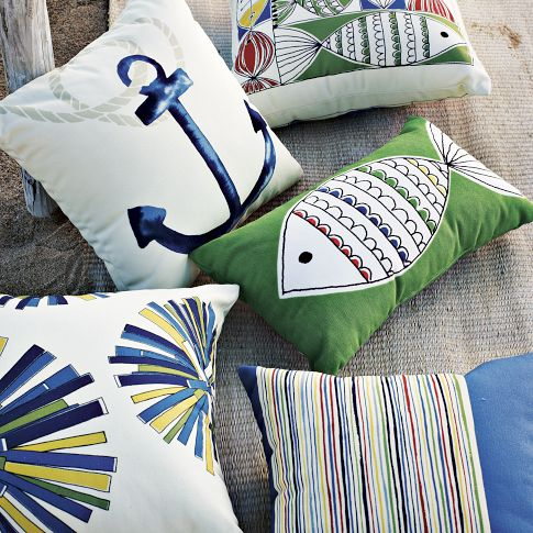 All Of West Elmu0027s Outdoor Pillows Are On Sale For Between $19.99 U2013 $29.99 U2013  They Have Tons Of Fun Colors And Coordinate Well Together.