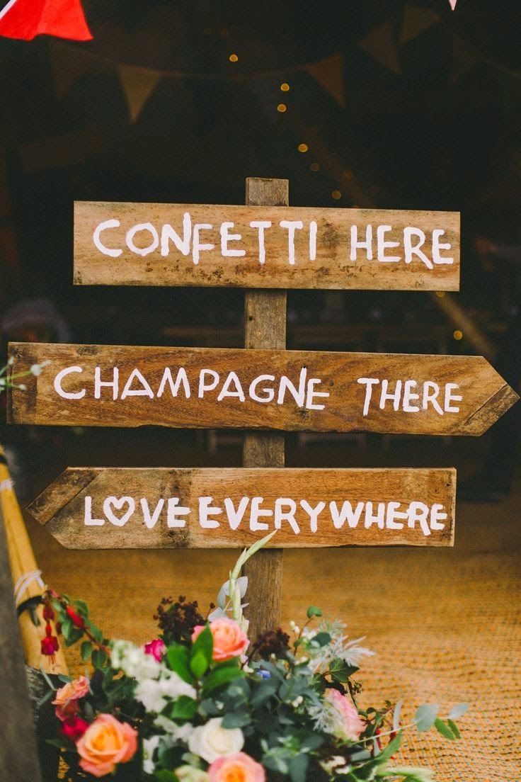 rustic hand painted wedding sign