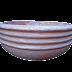 Forma / Molde Fibra de Vidro Fazer Vaso Bacia Lisa Borda Baixa