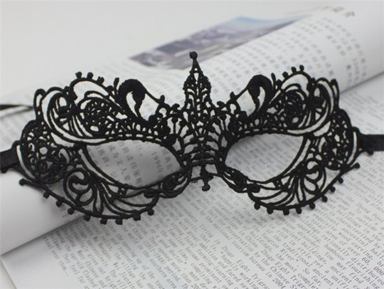 BLACK White Lace Masks Girls Wedding Halloween Masquerade Decoration