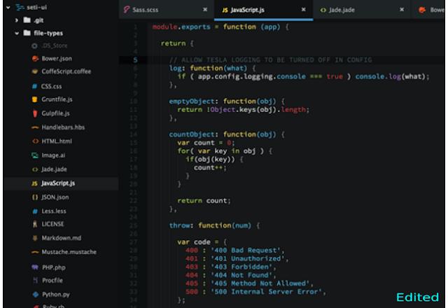 Screenshot aplikasi text editor terbaik