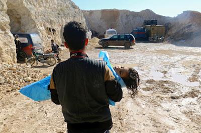 Biadabnya Rezim Suriah Habisi Ratusan Warga Idlib Dengan Gas Beracun
