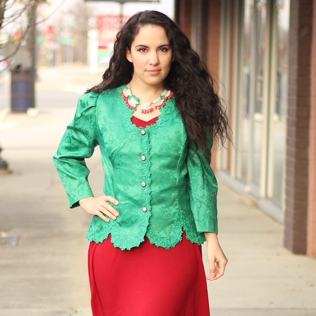 Green Brocade Jacket