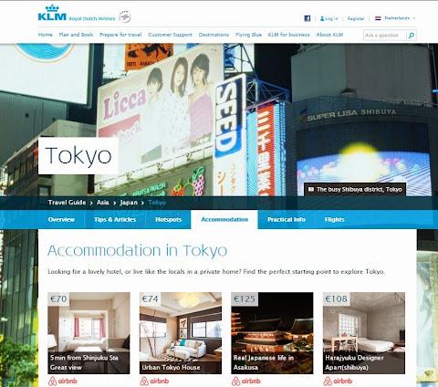 KLM Airbnb Tokyo 訂房服務