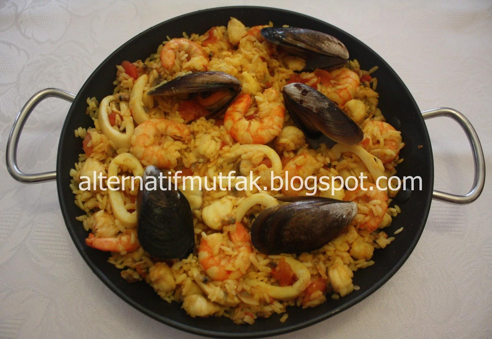 Safranlı Paella tarifi