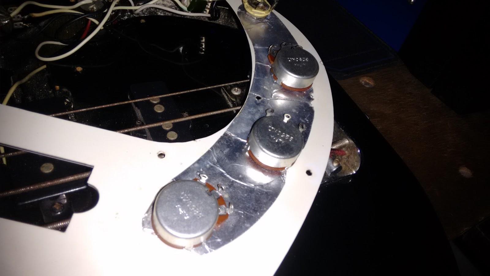 Circuito Eletrico Jazz Bass : Luthier de garagem refazendo circuito elétrico thomaz
