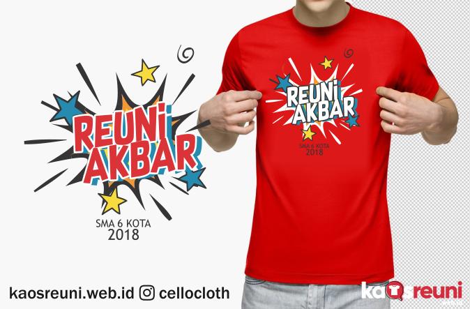 Sablon Kaos Reuni Kabar Alumni SMP SMA - Kaos Reuni web id Online