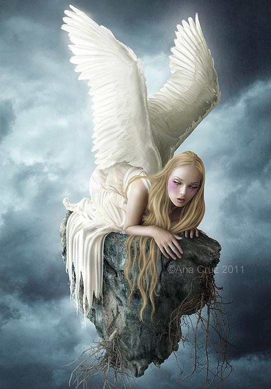 fantasy art angel sad - photo #48