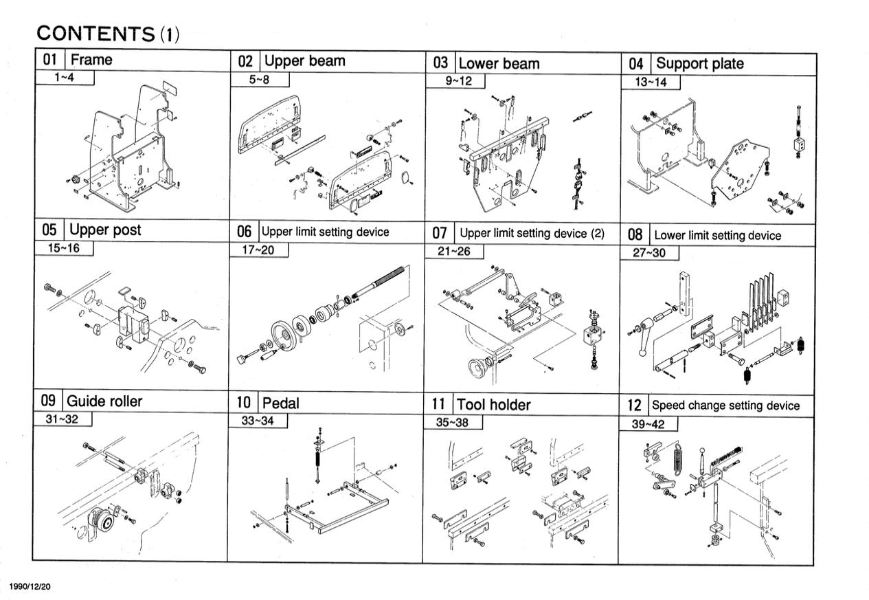 Hydraulic Press Brake Type ZII RG-35S(RG-35S Auto B/G) Parts List