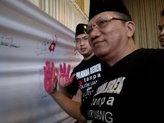 Ini 5 Butir  Deklarasi Tolak Politik Uang dan Politisasi SARA Pilwali Mojokerto