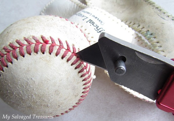 how to take apart an old baseball