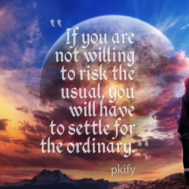 If You Are Not Willing to Risk the Usual You Will Have to Settle for the Ordinary Dreams Quotes