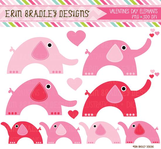 Erin Bradley Designs: New! Valentines Day Elephants ...