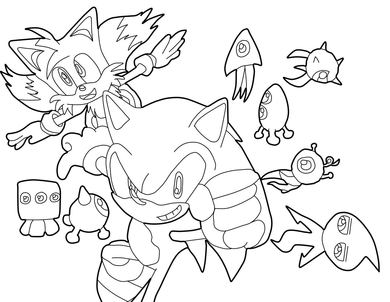 Dibujos De Sonic Para Imprimir Y Colorear: Blog MegaDiverso: Sonic Para Imprimir Y Pintar