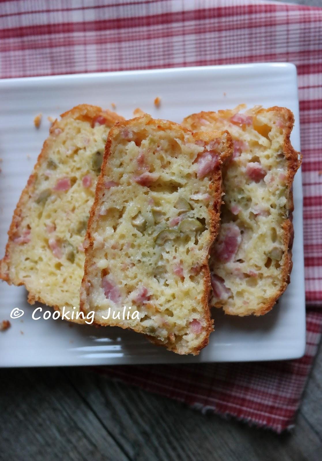 Cake Lardon Olives Thermomix