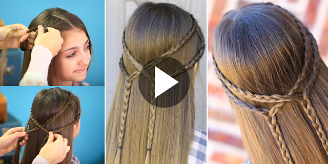 Learn - How To Create Double Braid Tieback Hairstyle, See Tutorial